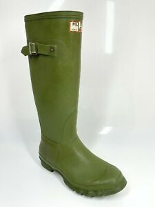 Hunter Uniroyal Made in Britain UK5 EU38 Vintage Green Boots Wellies (26-89 B15)
