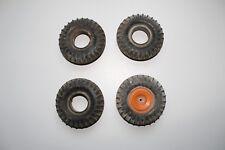 jouet : 4 pneus de tracteur CIJ diamètre 8 cm