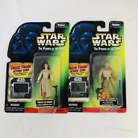 Lot 2 Vtg Star Wars POTF Bespin Luke Skywalker and Princess Leia Freeze Frame