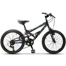"""20"""" Teen Kids Children Mountain Bike 7 Speed Bicycle Shimano Full Suspension"""