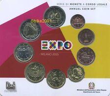 Euro ITALIA 2015 Folder Ufficiale 9 Monete EXPO Milano