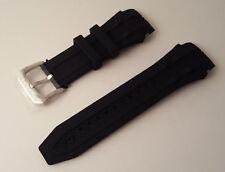 Invicta Reserve Bolt Black Polyurethane Rubber Strap Band Bracelet