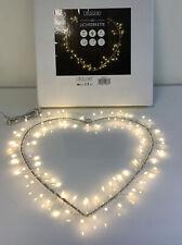 LED Herz Lumière Farbe Silber 38x38 cm Lichterkette Fensterdeko Licht  R9/-