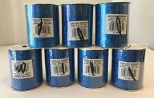 """Curly Ribbon Royal Holo Sparkle 3/16"""" X 50' Lot Of 7"""