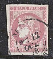 n°49 Bordeaux 80c rose 1870 oblitéré CÀD 12/10/78 1er choix - Signé A.Brun