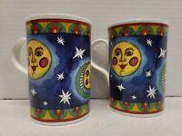 Set of 2 Wren Fine Bone China Moon Coffee Mugs By Helen Penton Voak Kitchen