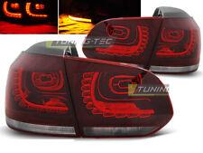 Coppia di Fari Posteriori per VW GOLF 6 VI 2008-2012 Rosso Bianco LED DEPO IT LD
