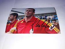 Signiertes Foto Michael Skibbe Galatasaray Istanbul Nuovo Mega RAR