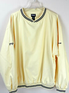 Ping Collection Men's XL Golf Pullover Protective Jacket Yellow Butter Windproof