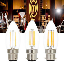 13X B22 Retro LED Chandelier Candle Light 6W Dimmable Edison Bulb Filament Lamp