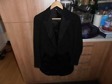 1920s Gentleman's Bespoke White Tie Evening Dress Tailcoat size 38