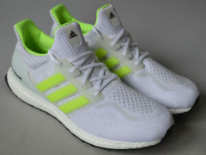 Men's White adidas Ultra Boost 5.0 DNA Glow in The Dark Running Shoes Size UK 10