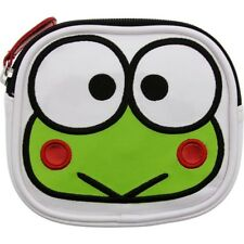 Sanrio Keroppi Head Coin Bag (white / green)