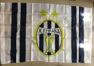 NEW ALBANIAN TIRANA FOOTBALL SOCCER TEAM FLAG-TIRANA TEAM FLAG-130 CM X 90 CM