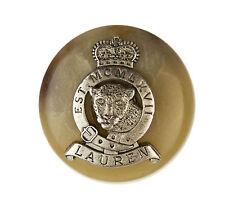 "Rare Ralph Lauren Leopard Crown Metal Plastic Replacement button .90"""