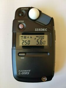 Sekonic Flashmate L-308S Light Meter, Complete in box, Amazing Condition.