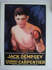 Jack Dempsey Georges Carpentier  Boxing Poster Print