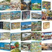Gibsons Puzzles - Afternoon Anglier, A World of Life, Love Autumn, Carnival