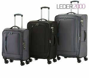 Travelite CROSSLITE Koffer Trolley Grau Schwarz 2 4 Rollen S M L o Set 55 67 77