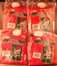 Four Chair Covers Fit On Back Of Chair, Santa's Hat Red & White Christmas House
