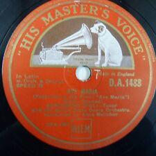 78 rpm BENIAMINO GIGLI Ave Maria/Agnus dei, HMV da 1488
