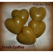 5 Fresh Coffee pure Eco Soy Wax heart melts for oil burner to scent your home