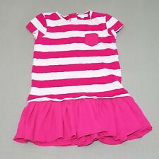 Rockets Of Awesome Girls Rugby Flounce Dress 3 Terry Fuchsia Stripe kg1