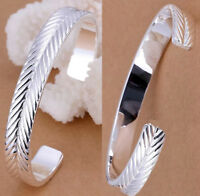 Valentine 925 Sterling Silver Womens Opulent Adjustable 12mm Bangle +GiftPk D553