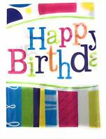 AEX Birthday Disposable Tablecloth Cover Plastic Party Tableware (Happy Bday)