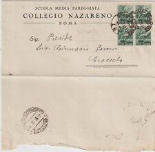 ITALIA 1946 1L QUARTINA DEMOCRATICA DA ROMA X GROSSETO