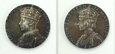 Superb 1937 Silver George VI & Elizabeth Coronation Medallion, Medal or Token