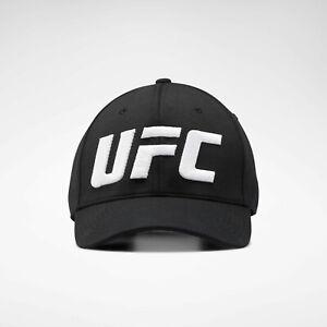 Reebok UFC Logo Baseball Hat MMA Training Cap Unisex EI0805 Black