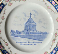 Vintage PENNSYLVANIA STATE MONUMENT Historical Souvenir Plate GETTYSBURG PA
