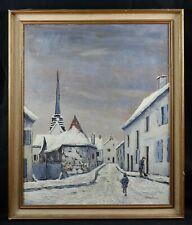 Ancienne huile sur toile signée CAVALIERI : Amblainville Oise pontoise beauvais