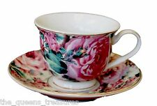 English Rose Child Size Fine China Teacups and Saucers, for Children FACTORY 2ND