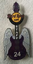 Hard Rock Cafe Stockholm 24th Anniversary Wing Guitar Staff Pin LE