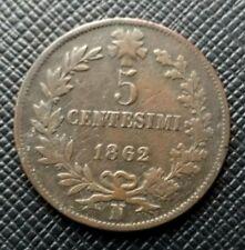 Italie 5 Centesimi 1862 N Vittorio Emanuelle II  [686]