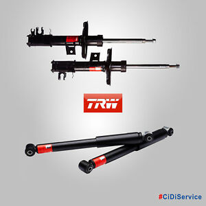 4 Ammortizzatori a Gas TRW Specifici Abarth 500 595 695 1.4 Turbo T-Jet Benzina