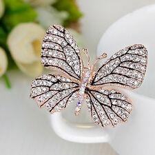 Damen Schmetterling Brosche Kristall Strass Pin Anstecknadel Broschennadel GUT