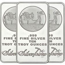 SilverTowne Logo 10oz .999 Silver Bar (3pc)
