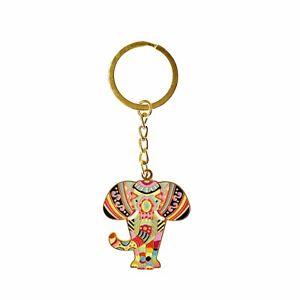 Mandala Elephant Keyring, Lanyard Keychain, Elephant Charm by Meloca Designs
