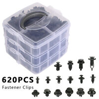 620Pcs Plastic Car Auto Push Pin Rivet Trim Fastener Moulding Clips Assortments