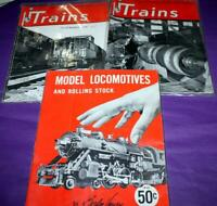 Lot of 3: Illustrated Magazine About Railroads/Model Locomotives & Rolling Stock