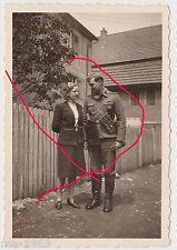 original  Foto  Uscha  mit Magazintaschen MP 40