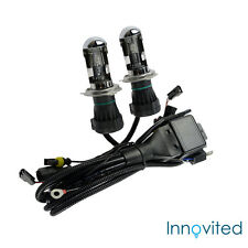 Innovited 35W HID H4-3 9003 5000K Bi xenon Hi/Lo Replacement Bulbs With Harness