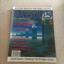 NEXUS MAGAZINE. NEW TIMES. VOL.3 NO.5. 1996. BEHIND NEWS, UFO'S,