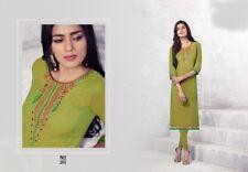 Ladies Pakistani Indian Pakistani Style light Khaddar Kurti Kurta Green