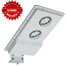 Solar Street Light LED Outdoor Dusk to Dawn Timing Security Area Lighting 1100LM