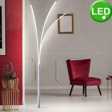 LED Luxus Chrom Steh Lampe Decken Fluter Stand Strahler Arbeits Zimmer Leuchte
