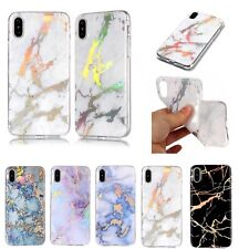 Fashion Marble Design Plating Soft TPU Case Cover For iPhone Samsung Huawei LG